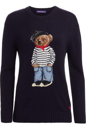 Ralph Lauren Women Tops - Women's Marseille Bear Crewneck Sweater - Navy - Size Small