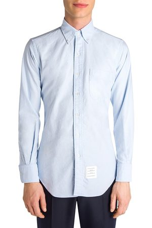 Thom Browne Men's Solid Button-Down Shirt - - Size 5 (XXL)