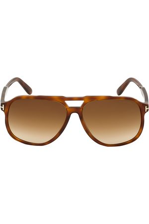 Tom Ford Men's Raoul 62MM Tortoiseshell Aviator Sunglasses