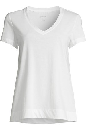 Lafayette 148 New York Women's The Modern V-Neck Tee - - Size Small