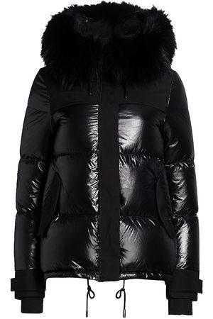 The Fur Salon Women's Fox Fur-Trim Puffer Down Jacket - - Size Small