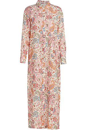 Etro Women's Paisley Long Shirtdress - Size 6