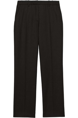 THEORY Women's Treeca Flannel Wool Cropped Pants - - Size 18