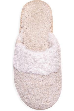 Barefoot Dreams Women's The CozyChic Coastal Slipper - Heathered Stone - Size Medium