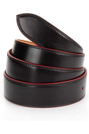 CORTHAY Men's Red Trim Leather Belt - - Size Small (90)
