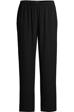 Eileen Fisher Women's Silk Straight-Leg Pants - - Size Medium