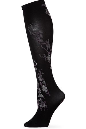 Natori Women's Winter Blossom Floral Knee-High Stockings