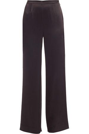 ST. JOHN Women's Caviar Collection Kate Satin Pants - - Size 8