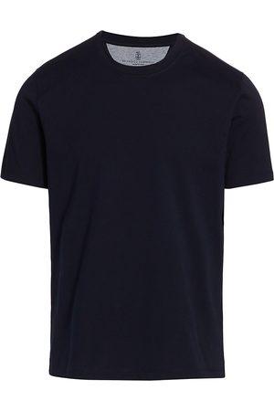 Brunello Cucinelli Men's Solid Cotton T-Shirt - - Size 56 (46)