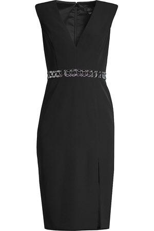 Aidan Mattox Women's V-Neck Cap-Sleeve Sheath - - Size 8