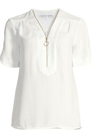 Trina Turk Women's Amethyst Half-Zip T-Shirt - - Size XXL