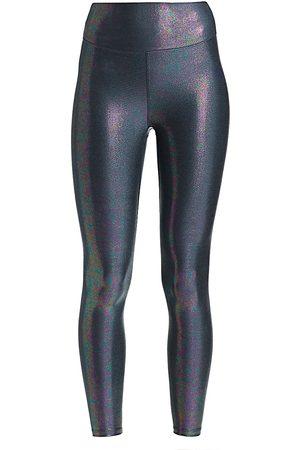 Heroine Women Leggings - Women's Marvel High-Waist Metallic Leggings - - Size Large