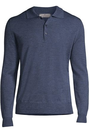CANALI Men's Long-Sleeve Three-Button Polo Sweater - - Size 50 (40)