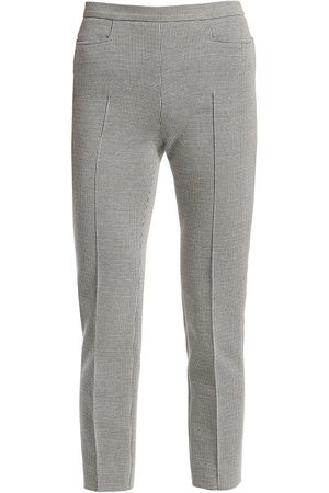 AKRIS Women's Franca Houndstooth Cropped Trousers - - Size 18
