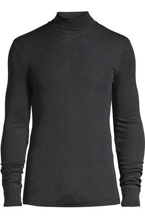 Hanro Men's Woolen Silk Turtleneck Tee - - Size Medium