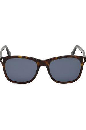 Tom Ford Men's 55MM Eric Squared Tortoise Shell Sunglasses