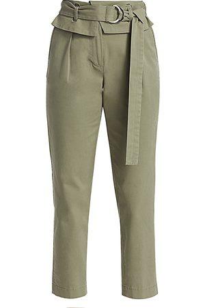 Derek Lam Women's Malia High-Rise Paperbag Cropped Pants - - Size 10
