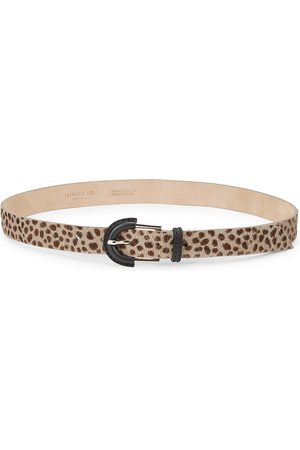Lafayette 148 New York Women's Leopard Calf Hair Leather Belt - - Size 100 (Medium)