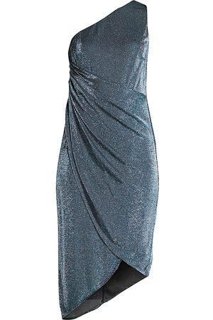 Aidan Mattox Draped Lurex Dress