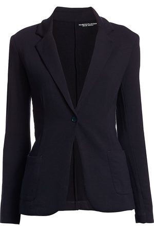 Majestic Women's French Terry Single-Button Blazer - - Size 2 (Small)