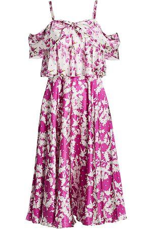 AMUR Women's Off-The-Shoulder Popover Waist Dress - - Size 4