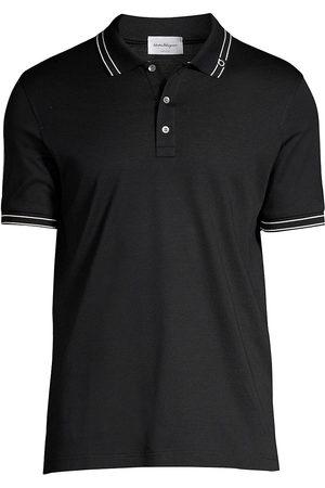 Salvatore Ferragamo Men's Basic Cotton Polo - Navy - Size XS