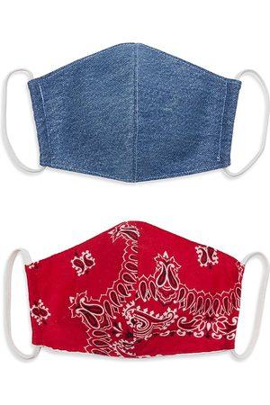 RE/DONE Women's 2-Pack Upcycled Denim & Bandana Face Masks Set