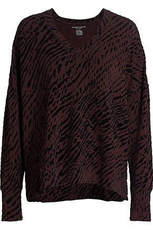 Majestic Women's Printed French Terry Pullover - - Size 3 (Medium)