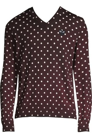 Comme des Garçons Men's Polka Dot Wool Sweater - - Size Small