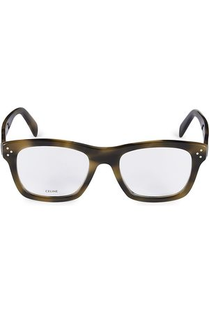 Céline Men's 53MM Square Optical Glasses - Dark