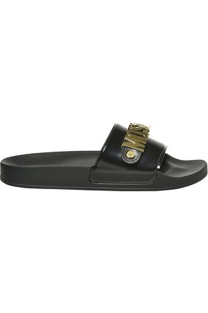Moschino Men's Logo Slide Sandals - - Size 44 (11)