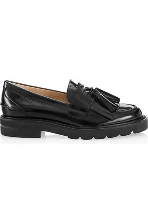 Stuart Weitzman Women's Mila Lift Patent Leather Loafers - - Size 6.5