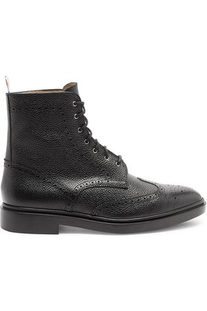 Thom Browne Men's Classic Leather Wingtip Boots - - Size 12
