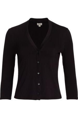 L'Agence Women's Britney Three-Quarter Cardigan - - Size Small