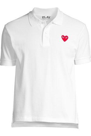 Comme des Garçons Men's Heart Applique Polo - - Size Small
