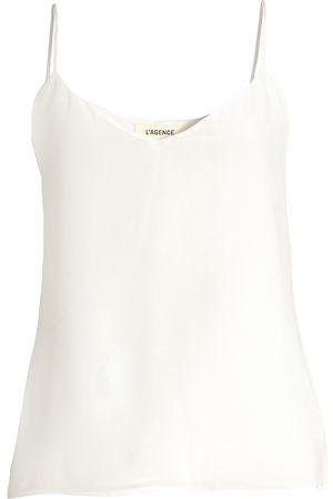 L'Agence Women's Jane Silk Tank - - Size Medium