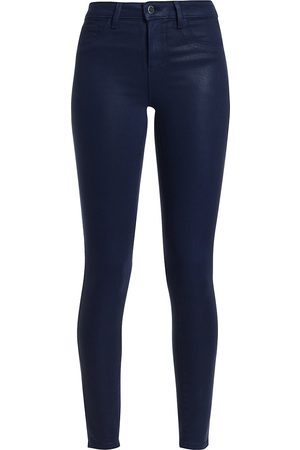 L'Agence Women's Marguerite High-Rise Skinny Coated Jeans - - Size 32 (10-12)