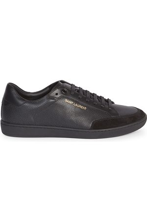 Saint Laurent Men's Court Classic Perforated Leather Sneakers - - Size 46 (13)