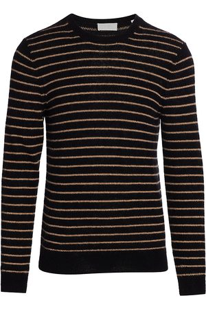 7 for all Mankind Men's Striped Wool & Mohair-Blend Sweater - - Size Large