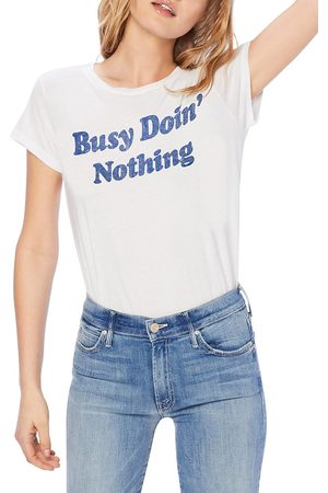 Mother Women's Busy Doin Nothing Graphic T-Shirt - - Size Large