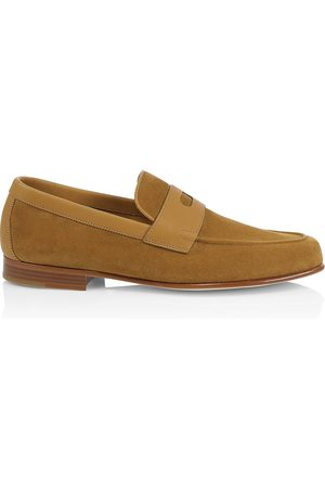 JOHN LOBB Men's Hendra Suede Loafers - - Size 10 UK (11 US)