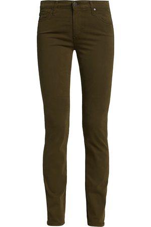 AG Jeans Women's Prima Sateen Mid-Rise Cigarette Pants - - Size 31 (10)