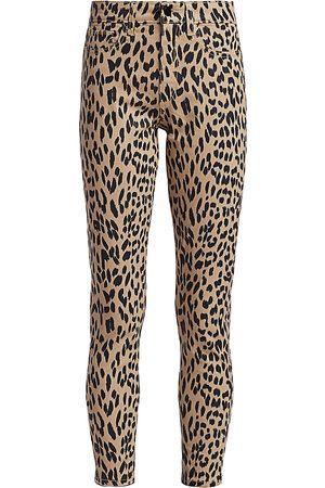 Joes Jeans Women's Charlie High-Rise Leopard Print Ankle Skinny Jeans - - Size 34 (2)