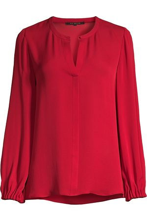 Kobi Halperin Women's Lola Silk Long-Sleeve Blouse - - Size Large