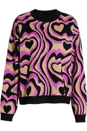 Msgm Women's Multi-Print Crewneck Sweater - - Size Large