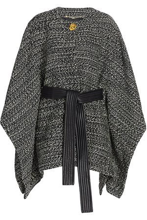 Escada Women's Belted Tweed Virgin Wool Cape - - Size Small