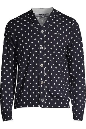 Comme des Garçons Men's Heart Polka Dot Wool Button-Down Shirt - - Size Small