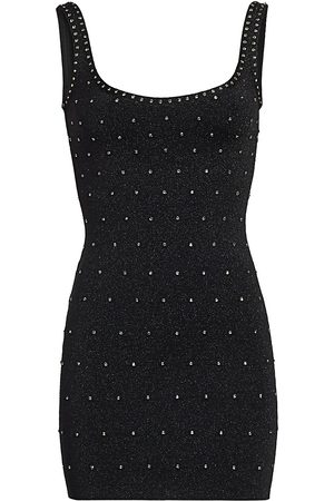 Hervé Léger Women's Swarovski Crystal-Embellished Lurex Mini Bodycon Dress - - Size Medium