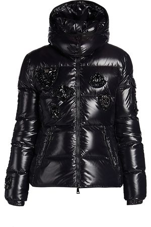 Moncler Women's Ouanne Embellished Down Puffer Coat - - Size 4 (XL)