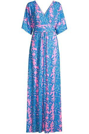 Lilly Pulitzer Women's Parigi Printed Maxi Dress - - Size XL